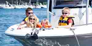 YHQ Family On Bow Motorboat