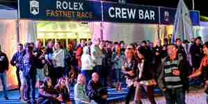Plymouth 2018 Fastnet Race Village Crew Bar Credit RORC