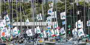 Plymouth 2018 Fastnet Pontoon Flags Credit RORC
